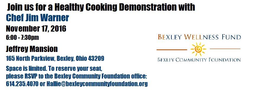 Bexley Wellness Fund Healthy Cooking Demonstration